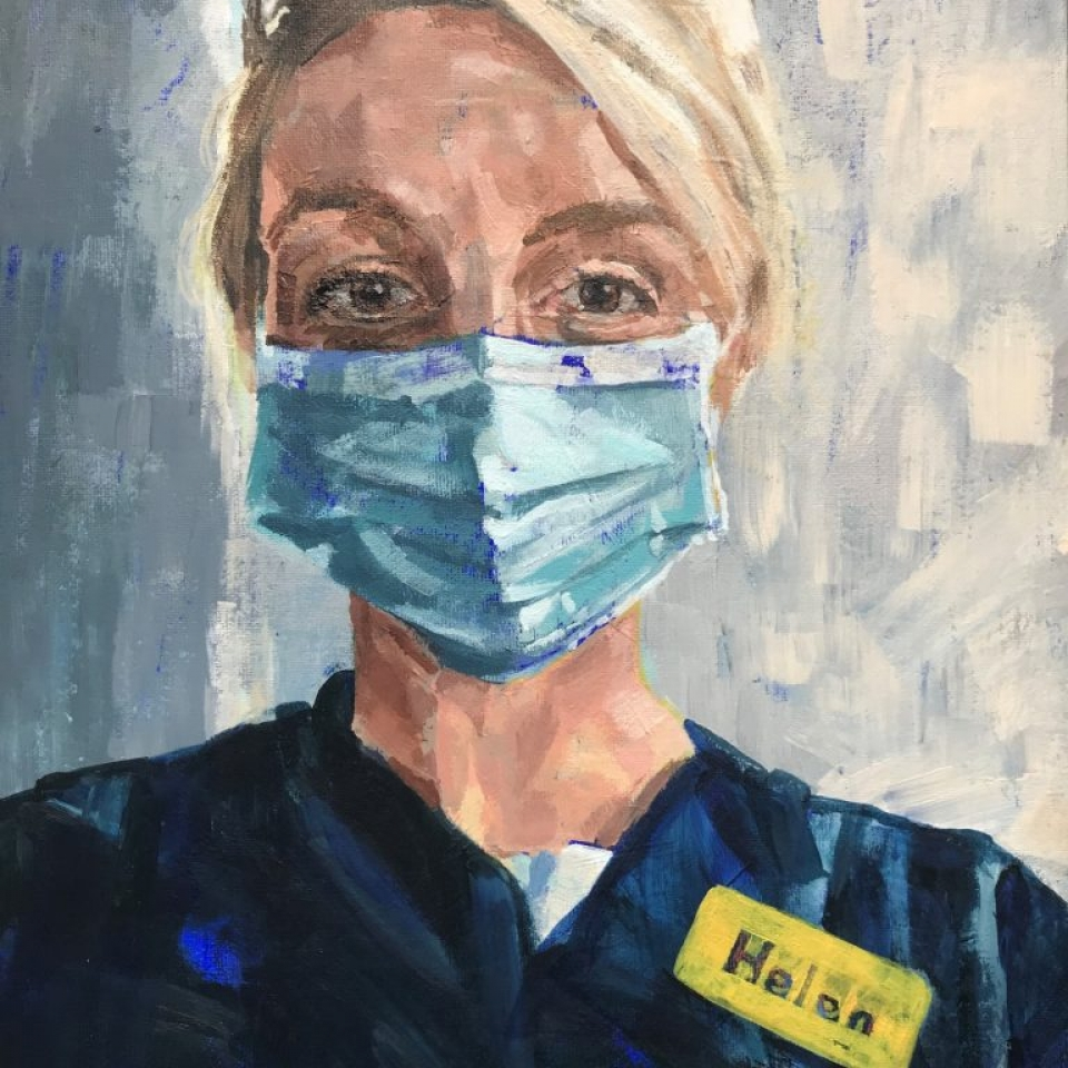 NHS portrait nurse