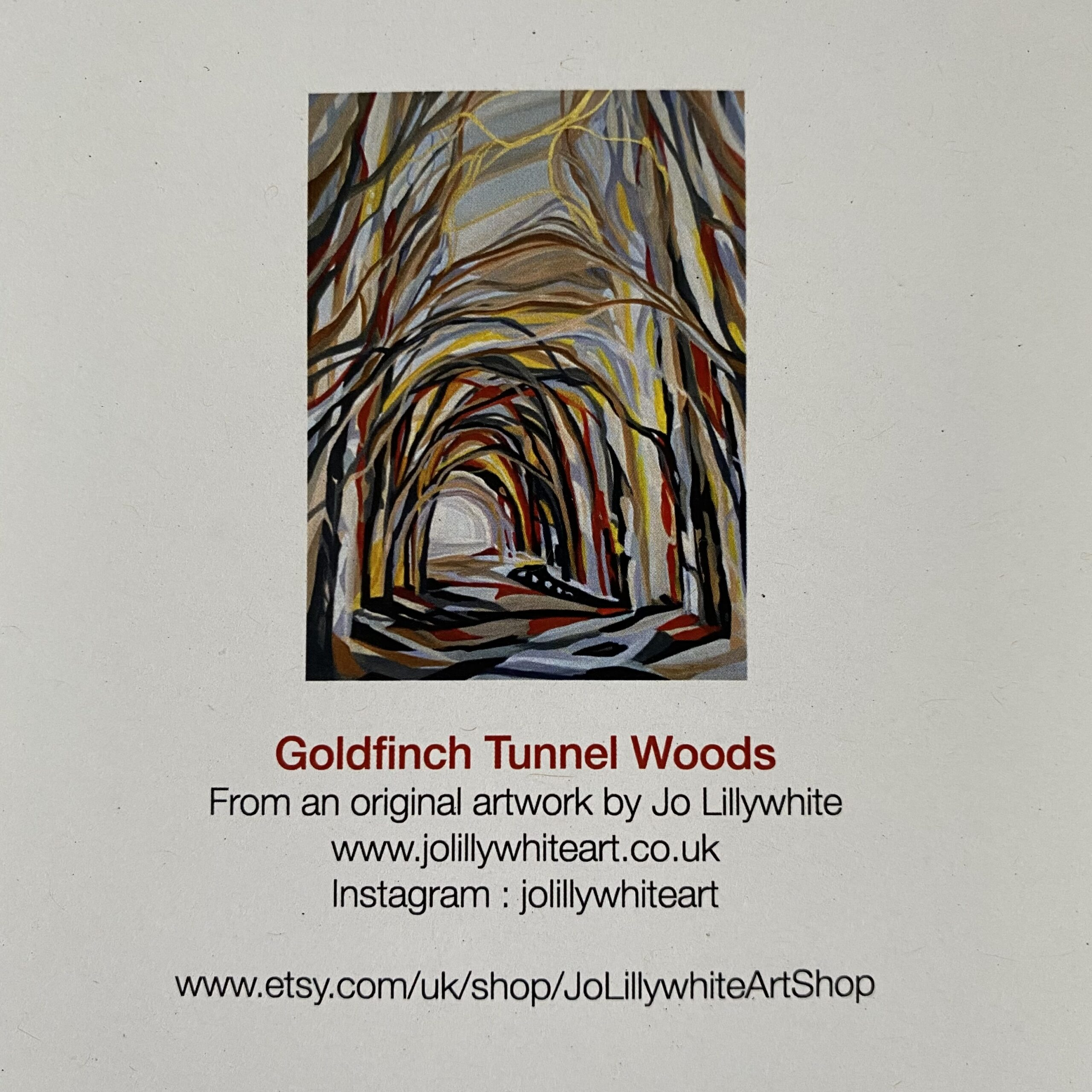 Goldfinch Tunnel Woods card