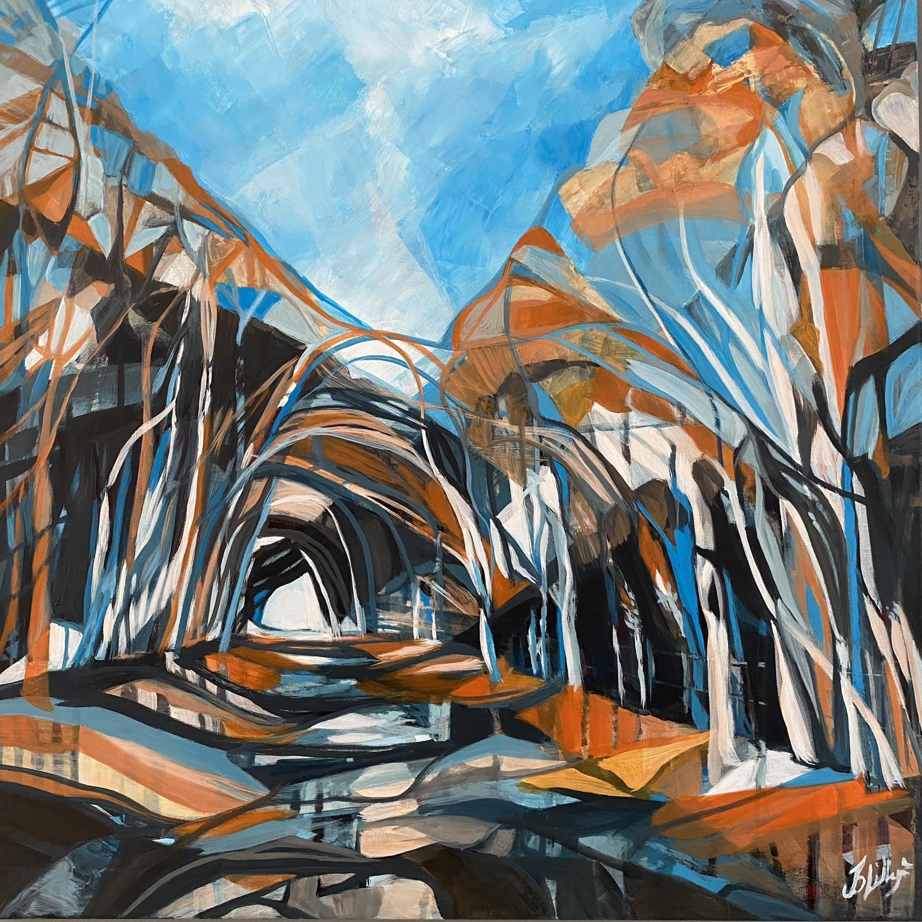 tunnel woods, holloway, tree tunnels, beech woodland, contemporary woodland painting,